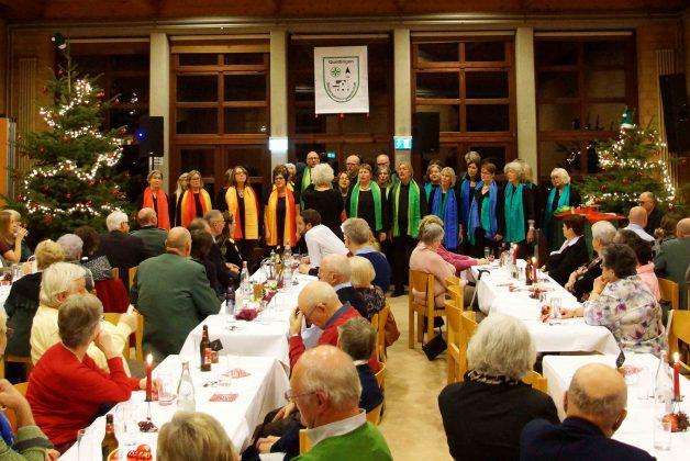 Chor Color aus Leichlingen zu Besuch beim Adventskaffee der Quettinger Bürgerschützen