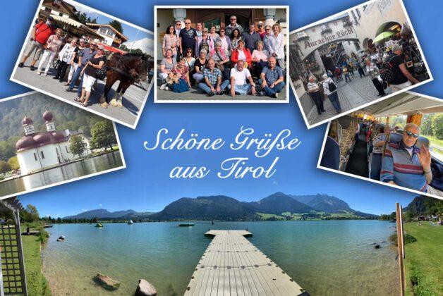 Postkarte Vereinsfahrt Tirol