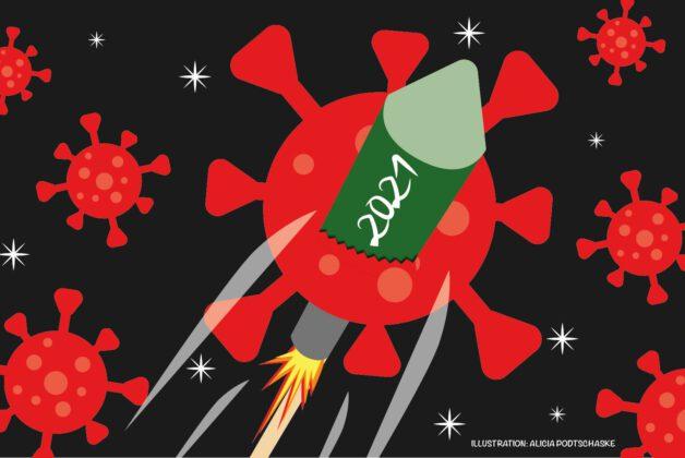 Corona-Feuerwerk Illustration von Alicia Podtschaske